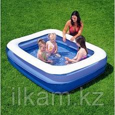 Детский надувной бассейн, Blue Rectangular, Bestway 54005, размер 201х150х51 см, фото 2