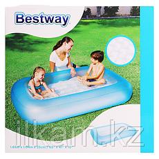 Детский надувной бассейн, Blue Rectangular, Bestway 54005, размер 201х150х51 см, фото 3