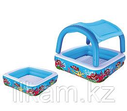 Детский надувной бассейн с навесом Bestway 52192, размер 147x147x122 см, фото 2