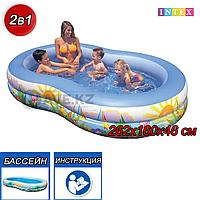 Детский надувной бассейн Intex 56490, Райская Лагуна, 262х160х46