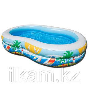 Детский надувной бассейн Intex 56490, Райская Лагуна, 262х160х46, фото 2