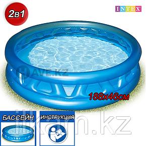 Детский надувной бассейн Intex 58431, с рёбрами, размер 188х46 см, фото 2