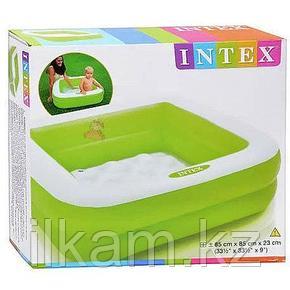 Детский надувной бассейн Intex 57100, размер 85x85x23 см, фото 2