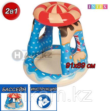 Детский надувной бассейн, Остров сладости, Intex 52270, размер 91х89 см, фото 2