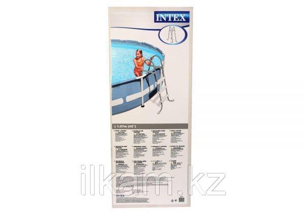 Металлическая лестница Intex 28065, для каркасного и надувного бассейна, высота 1.07 см