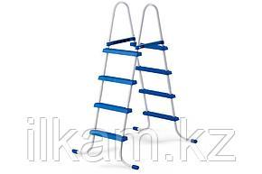 Металлическая лестница Intex 28061, для каркасных и надувных бассейнов, высотой 1.07m, фото 2