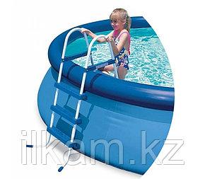 Металлическая лестница INTEX 28060, для каркасного и надувного бассейна, высотой 91 см, фото 2