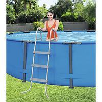 Лестница для каркасного, надувного бассейна, Bestway 58335, размер 107 см