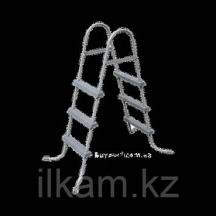 Лестница для каркасного, надувного бассейна, Bestway 58335, размер 107 см, фото 2