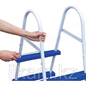 Металлическая лестница Bestway 58046, для каркасных и надувных бассейнов, высотой 76 см, фото 2