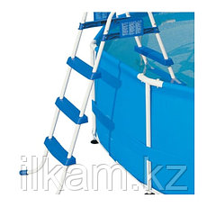 Металлическая лестница Bestway 58336, для каркасных и надувных бассейнов, высотой-122 см, фото 2