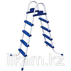 Металлическая лестница Bestway 58336, для каркасных и надувных бассейнов, высотой-122 см, фото 3