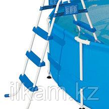 Металлическая лестница Bestway 58393, для каркасных и надувных бассейна, высота 91 см, фото 2