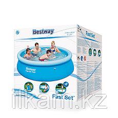 Круглый надувной бассейн, Bestway 57252, Fast Set Pool, размер 198х51 см, фото 3