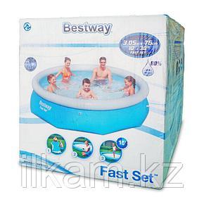 Надувной бассейн Bestway 57266, Fast set Pool, размер 305x76 см, фото 2