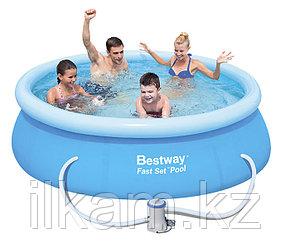 Бассейн с надувным Bestway 57270, с фильтр-насосом, размер 305х76 см, фото 2