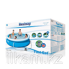 Бассейн с надувным Bestway 57270, с фильтр-насосом, размер 305х76 см, фото 3