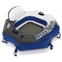 Надувной круг-шезлонг, для плавания, River Run Connect, Intex 58854, размер 130х126 см
