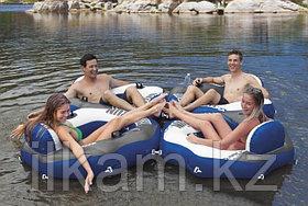 Надувной круг-шезлонг, для плавания, River Run Connect, Intex 58854, размер 130х126 см, фото 2