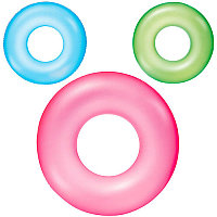 Детский надувной круг, Frosted Neon Swim Ring, Bestway 36022, размер 51 см