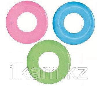Детский надувной круг для плавания, Frosted Neon Swim Ring, Bestway 36025, размер 91 см, фото 2