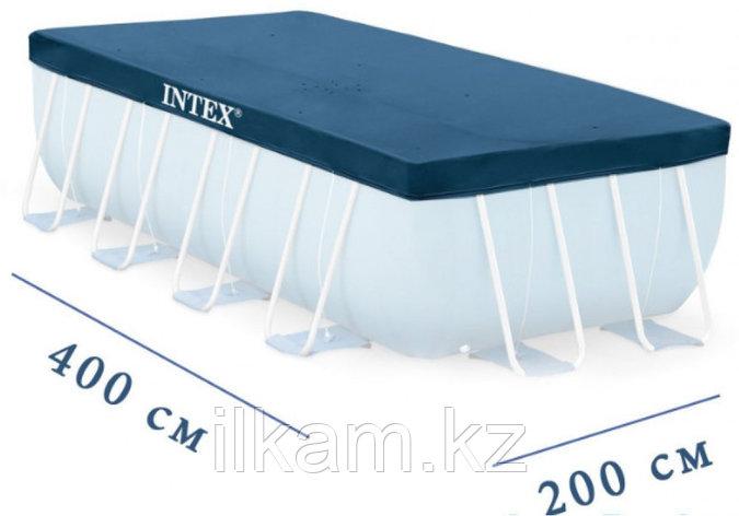 Чехол-тент для каркасного бассейна, Intex 28037, размер 400X200 см, фото 2