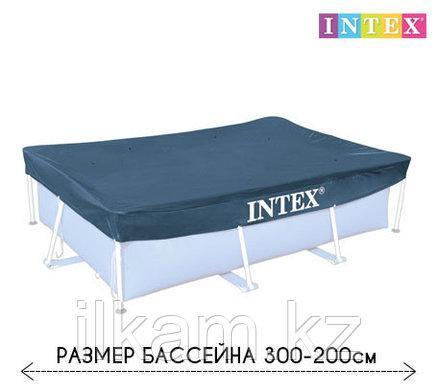Чехол - тент для каркасного бассейна 28038 INTEX, размер 300 - 200 см, фото 2