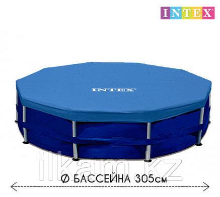 Чехол - тент для каркасного бассейна 28030 INTEX, диаметром 305 см, фото 2