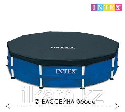 Чехол - тент для каркасного бассейна 28031 INTEX, диаметром 366 см, фото 2