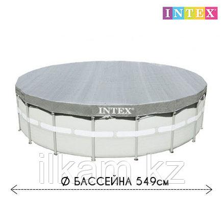 Чехол - тент для круглого каркасного бассейна 28041 INTEX, диаметром 549 см, фото 2