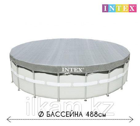 Чехол - тент для каркасного бассейна 28040 INTEX, диаметром 488 см