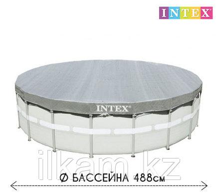 Чехол - тент для каркасного бассейна 28040 INTEX, диаметром 488 см, фото 2