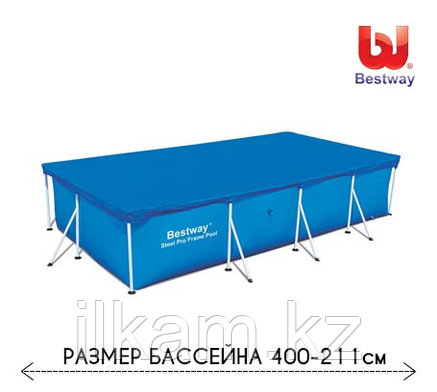 Тент для каркасного бассейна 58107 Bestway, размером 400 - 211 см, фото 2