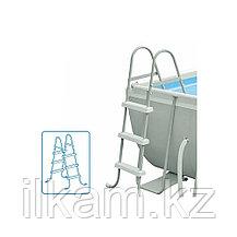 Каркасный бассейн Intex 28362,26364, Ultra Frame Rectangular Pool, размер 732x366x132 см, фото 3