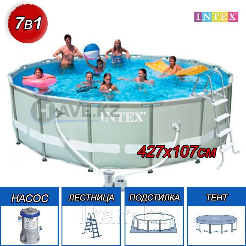 Каркасный бассейн Intex 28310, Ultra Frame Pool, размер 457x107 cм