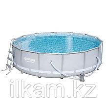 Круглый каркасный бассейн, Power Steel, Bestway 56451, размер 488х122 см, фото 3