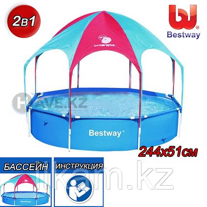 Детский каркасный бассейн Bestway 56193, 56432, Rectangular Frame Pool, размер 244 х 51 см, фото 2