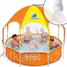 Детский каркасный бассейн Bestway 56193, 56432, Rectangular Frame Pool, размер 244 х 51 см, фото 3