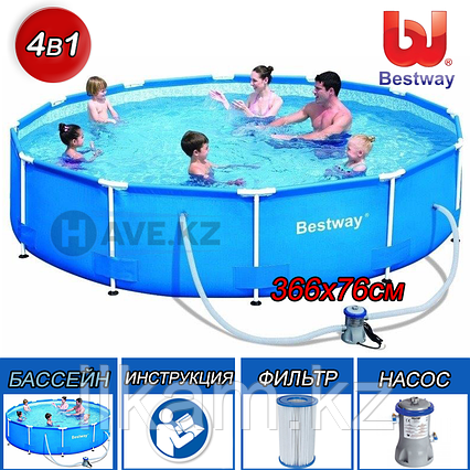 Каркасный бассейн 56416, Steel Pro Frame Pool, размер 366x76 см, фото 2