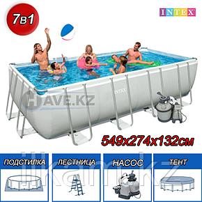 Каркасный бассейн Intex 26356NP, 28352, 26356, Rectangular Ultra Frame Pool , размер 549 х 274 х 132 см, фото 2