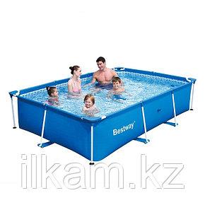 Прямоугольный каркасный бассейн Bestway 56403, Steel Pro Frame Pool, размер 259х170х61 см, фото 2