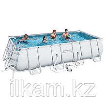 Прямоугольный каркасный бассейн, Power Steel Rectangular, Bestway 56670, размер 488х244х122 см, фото 2
