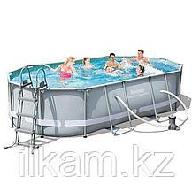 Овальный каркасный бассейн, Ultra Frame Rectangular, Bestway 56448, размер 488x305x107см, фото 2