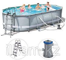 Овальный каркасный бассейн, Ultra Frame Rectangular, Bestway 56448, размер 488x305x107см, фото 3