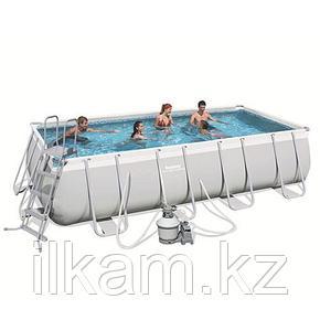 Прямоугольный каркасный бассейн, Power Steel Pool, Bestway 56671, размер 488х244х122 см, фото 2