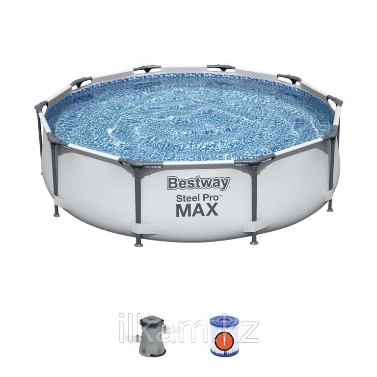 Каркасный бассейн Bestway 56408, Steel Pro MAX, размер 305x76 см