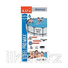 "Каркасный бассейн Bestway 56488 ""Steel Pro Max"" размер 457х107 см, фото 2"