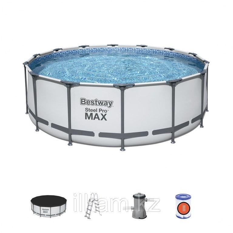 "Каркасный бассейн Bestway 5612X ""Steel Pro Max"" размер 427х122 см"