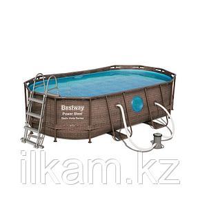 "Каркасный бассейн Bestway 56714 ""Power Steel Swim Vista II"" размер 427 х 250 x 100 см, фото 2"