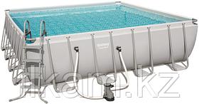 Квадратный каркасный бассейн Power Steel Frame, Bestway 56626, размер 488х488х122 см, фото 3